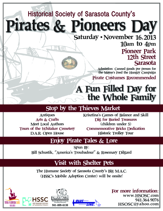 Pirates and Pioneers at the Historical Society of Sarasota County