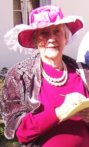 Sue Blue, portraying Rose Wilson, owner and editor of the early 20th-century Sarasota newspaper