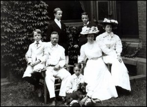Theodore Roosevelt family portrait. The dog's name is Skip.