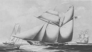Civil War era schooner