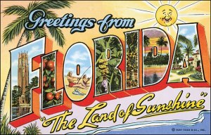 Vintage Florida postcard from the Historical Society of Sarasota County