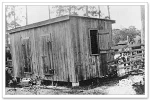 The hoosegow, Sarasota FL 1903. No A/C, no screens.