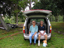 Historical Society of Sarasota County volunteers taking a rest