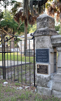 The Whitaker Cemetery, from 1879, is next door to the Historical Society's Pioneer Park campus at 1260 12th Street, just east of Tamiami Trail.