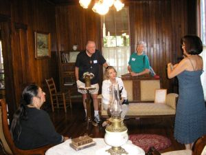 Historical Society of Sarasota County docent, Bidwell-Wood House