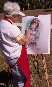 Artist at an HSOSC event