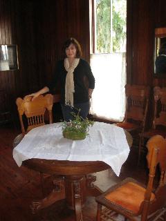 Nancy Dunn donates Tiger Oak Table