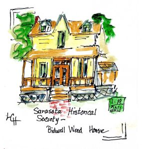 Watercolor journaling classes at the Historical Society of Sarasota County, by Lucinda Hathaway