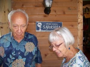 Milton and Isabel Rauch, avid members, at the Historical Society of Sarasota County