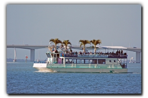 Le Barge hosting the Historical Society of Sarasota County's History Cruise November 4 2012