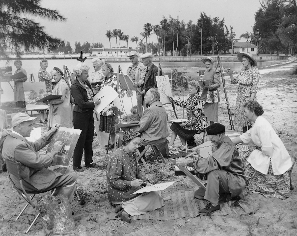 Artists on Sarasota Bay, 1950's