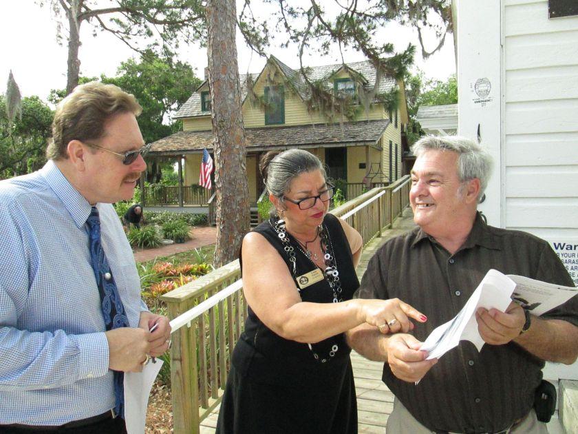 Ron McCarty, Linda Garcia, and Dr. Clifford Smith at the Historical Society of Sarasota County