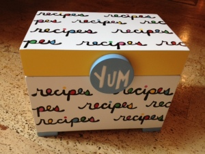 recipe box artofgivingdotcom