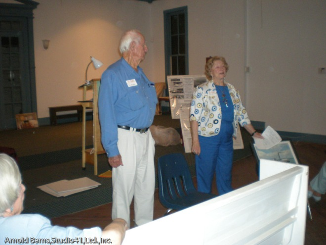 Cy and Doris Bispham at the Historical Society of Sarasota County