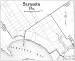 Sarasota FL map from an automobile club, 1919.