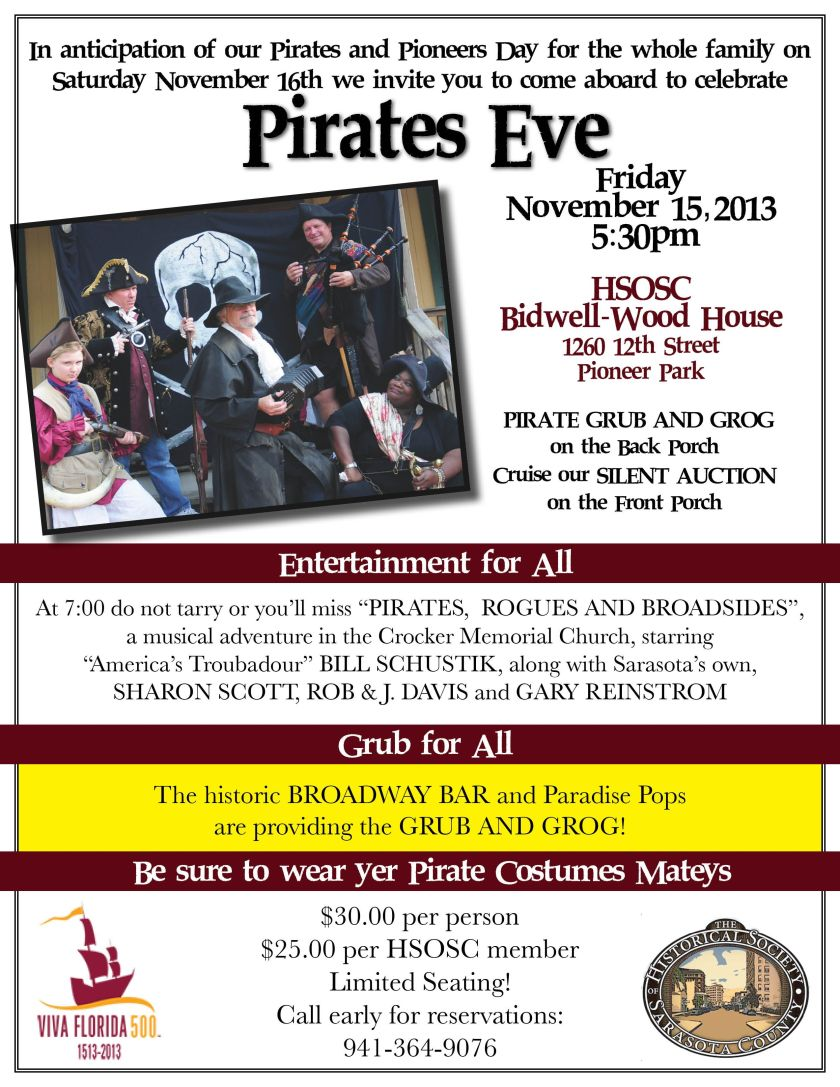 Pirates' Eve Info from the Historical Society of Sarasota County
