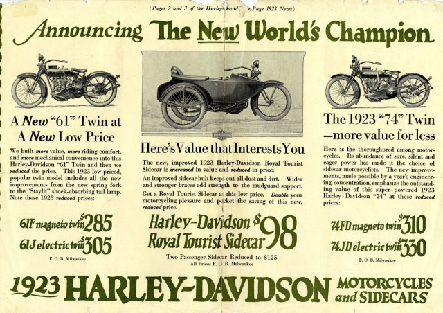 Harley-Davidson motorcycle almost beat the world record on Siesta Beach in 1923 ---HSoSC.com