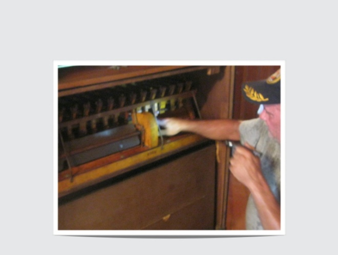 Pump Organ Inspection by Robert Senseman