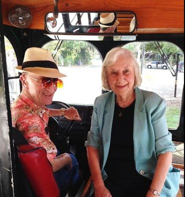 Sue Blue, narator, Historic Downtown Sarasota Trollet Tours from the Historical Society