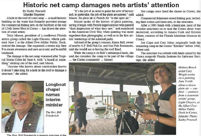 The Island newspaper article