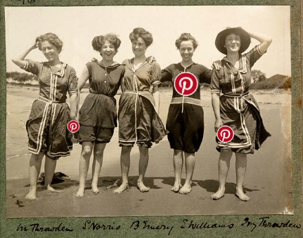 1908 bathing beauties and Pinterest