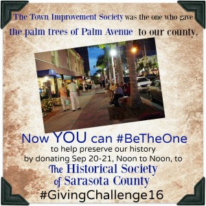 The palms on Palm Avenue were donated by ladies wanting to #BeTheOne