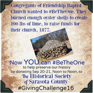 Friendship Baptist Church raised funds for their church in 1877 by making lime out of oyster shells.