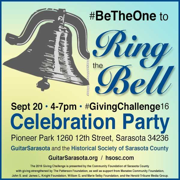 Join HSoSC & Guitarsarasota to celebrate #GivingChallenge16