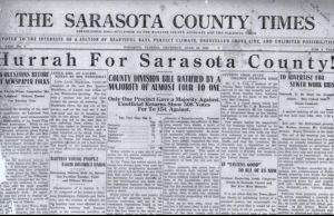 The Sarasota County Times: first edtion under its new name