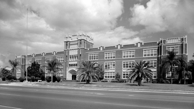 Sarasota High School, built in the 1920's,as seen on HSoSC.com