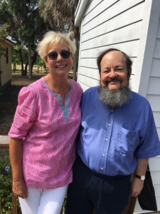 Current and past Presidents of the Historical Society of Sarasota County, Marsha Fottler and Howard Rosenthal