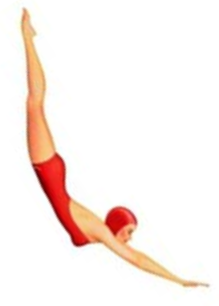 The Diving Girl signified a motel with a swimming pool